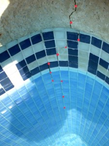 Swimming pool structural problem