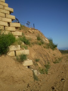 Defective retaining wall in Spain